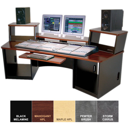 Omnirax Force 36 Audio Video Workstation (Mahogany Formica)