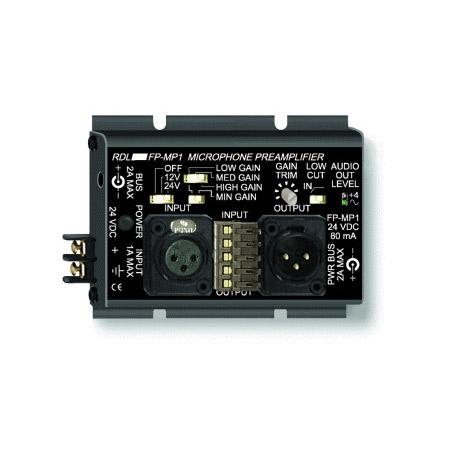 RDL FP-MP1 Studio Quality Mic Preamp w/ Phantom - Terminals & XLR