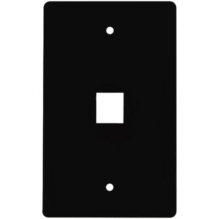 One Port Flushmount Keystone Faceplate Black
