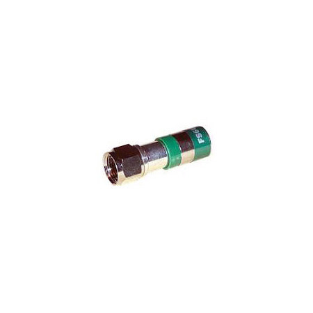 F-Conn FSNS6PL RG6 Plenum F Type Nickel Connector EACH