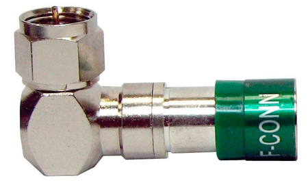 Belden  FSNS6URA - Right Angle F Connector for Standard or Quad Cable - 25 pk