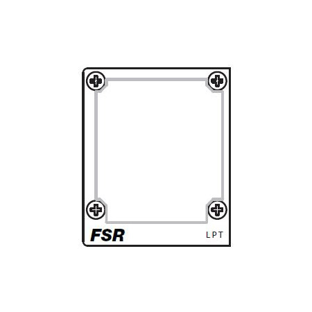 FSR T3U-2-LPT Left Blank Plate Insert to be Punched by Customer
