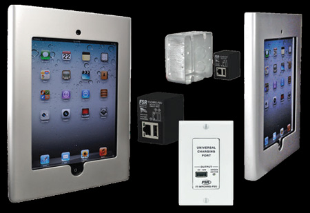 FSR WE-IPD2-SLV iPad 2 Enclosure - Black -  Mounts on 2 Gang Box
