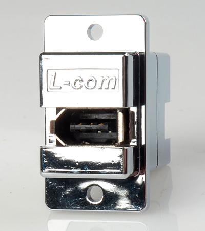Shielded Firewire Chassis Mount Coupler