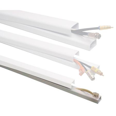 Quest FWH-11411 1/2 x 48 Inch Low Voltage Cable Raceway (EACH) - White