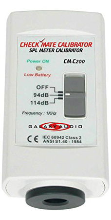 Galaxy CM-C200 Check Mate SPL Meter Calibrator