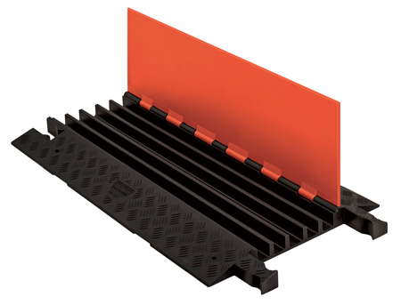 Guard Dog Low Profile-5 Channel with ADA Ramps. Black Lid/Black Base