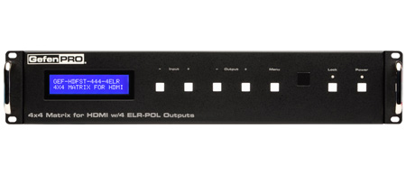 GefenPRO GEF-HDFST-444-4ELR 4x4 Matrix for HDMI w/ 4 ELR-POL