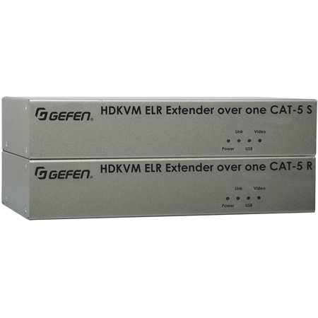 Gefen EXT-HDKVM-ELR Extender for HDMI and USB over One Cat5