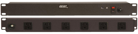 Geist BRT060-10 Rackmount 10 Outlet 15A Non-Suppressed AC Power DA