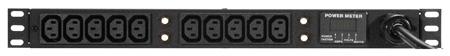 Geist Vertical IEC-320 10 Outlet 30A Power DA w/Current Meter