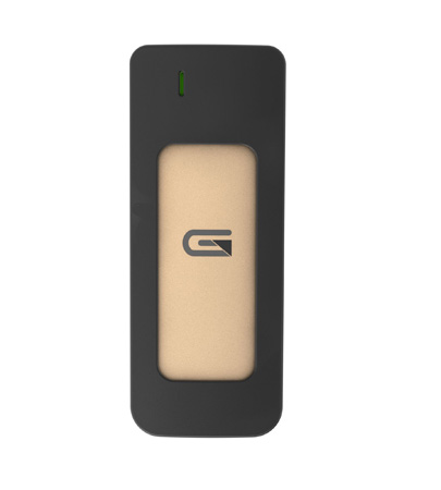 Glyph A500GLD Atom USB-C (3.1 Gen 2) / USB3.0 SSD Compatible with Thunderbolt 3 - Gold 525Gb
