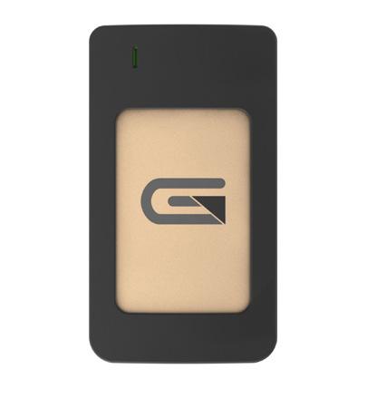 Glyph AR2000GLD Atom USB-C (3.1 Gen 2) / USB3.0 SSD Compatible with Thunderbolt 3 - Gold 2TB Raid