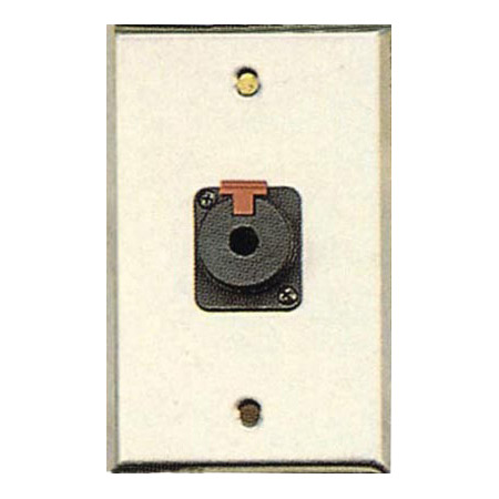 Contractor Series Wall Plate with 1 Latching 1/4 Inch Jack