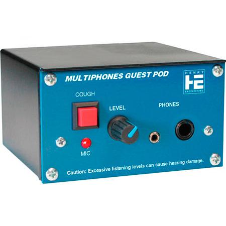 Henry Engineering Guest Pod Headphone Listening Station Box for MutliPhones II