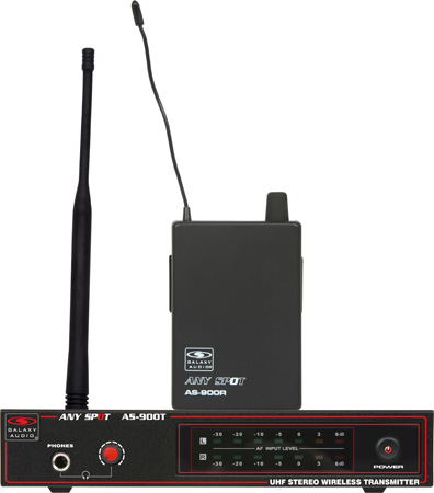 Galaxy Audio AS-900K5 Fixed Frequency Wireless Personal Monitor Freq K5 - 646.7 MHz