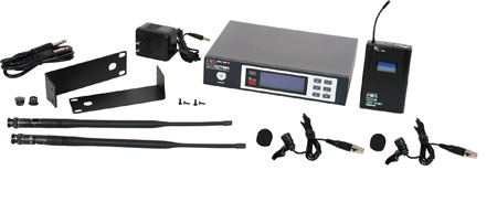 Galaxy ECDR/38VVD ECD Wireless Dual Lavalier Microphone System