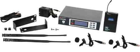 Galaxy ECDR/38VVL ECD Wireless Dual Lavalier Microphone System