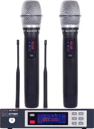 Galaxy ECDR/HH38D ECD Wireless Dual Handheld Microphone System