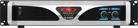 Galaxy Audio G-1200 G-Series Stereo 1200W Amplifier