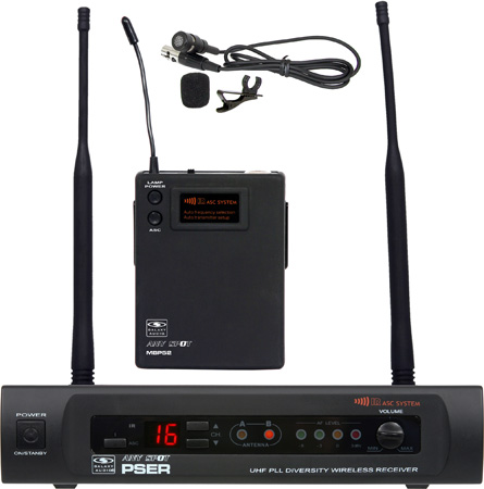 Galaxy Audio PSER/52LAV 16 Channel UHF Lavalier Wireless Mic System