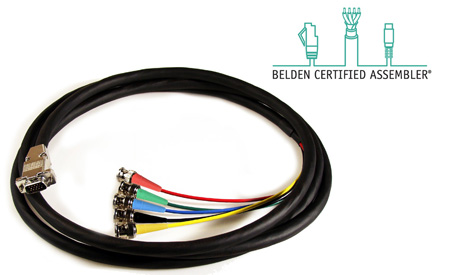 Belden/Kings HDTV 5Channel BNC Male to VGA Male Cable 50Ft