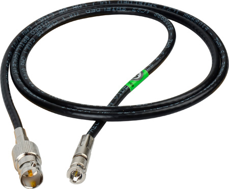 Connectronics High Density HD-BNC Male to Standard BNC Female HD-SDI Cable with Belden 1695 Plenum 7 Foot