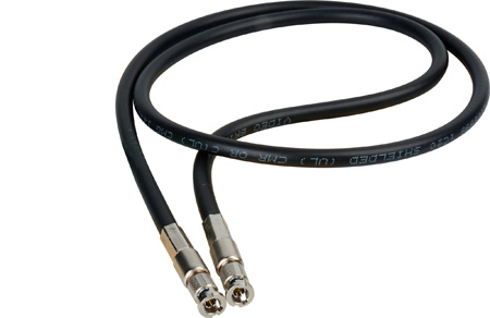 Connectronics High Density HD-BNC Male to HD-BNC Male HD-SDI Cable with Belden 1695 Plenum 1 Foot