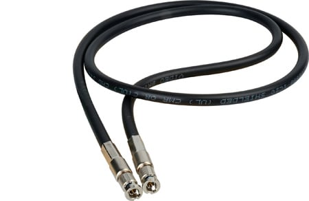 Connectronics High Density HD-BNC Male to HD-BNC Male HD-SDI Cable with Belden 1695 Plenum 15 Foot