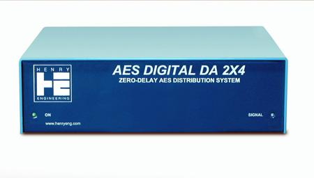 Henry Engineering AES Digital DA 2X4 Zero-Delay AES Distribution System