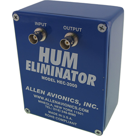 Allen Avionics HEC-2000V 75 Ohm Hum Eliminator with Stainless Steel Guard Rails