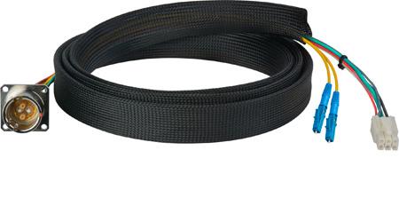 Camplex FCS015A-MR Canare Hybrid Fiber Optic Receptacle Cable SMPTE/ARIB w/ LC - Male 1ft
