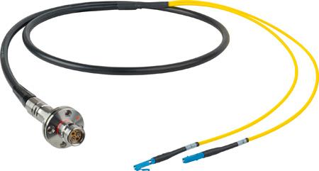 Camplex LEMO FMW to Duplex LC In-Line Fiber Optic Breakout Cable - 6 Foot