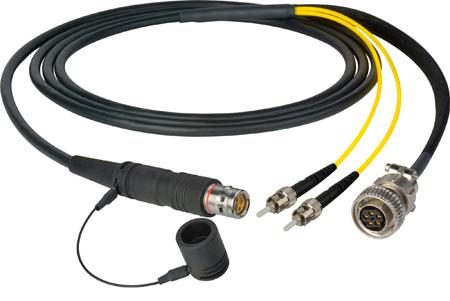 Camplex LEMO FUW to Dual ST & 5-Pin Amp In-Line Fiber Breakout 6 Foot