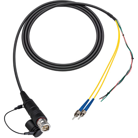 Camplex LEMO FUW to Dual ST & Blunt Lead In-Line Fiber Breakout 75 Foot