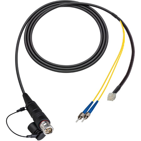 Camplex LEMO FUW to Dual ST & 6-Pin RG In-Line Fiber Breakout 75 Foot