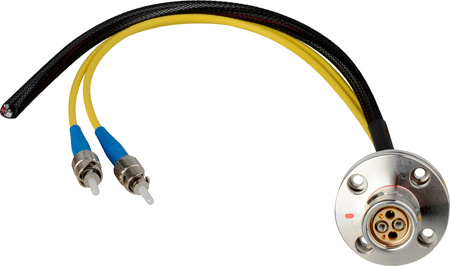 Camplex LEMO FXW to Dual ST & Blunt Lead Fiber Breakout Cable 12 Inch