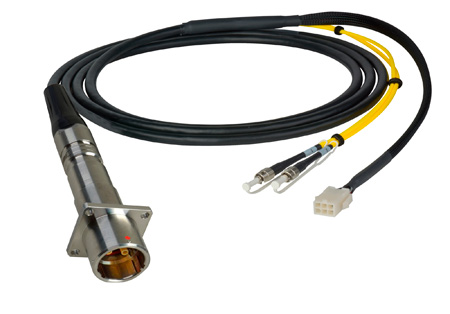 Camplex LEMO PBW to Duplex LC & 6-Pin Amp In-Line Fiber Breakout 75 Foot