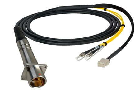 Camplex LEMO PBW to Duplex LC & 6-Pin Amp In-Line Fiber Breakout 50 Foot
