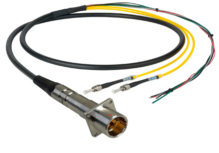 Camplex LEMO PBW to Dual ST & Blunt Lead In-Line Fiber Breakout 25 Foot