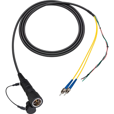 Camplex LEMO PUW to Duplex LC & Blunt Lead In-Line Fiber Breakout 15 Foot