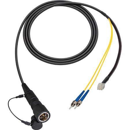 Camplex LEMO PUW to Duplex LC & 6-Pin RG In-Line Fiber Breakout 50 Foot