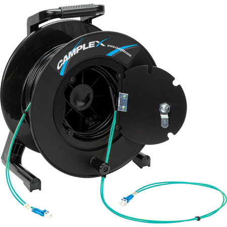 Camplex 2-Channel LC Multi Mode OM3 Fiber Optic Tactical Reel - 750 Foot
