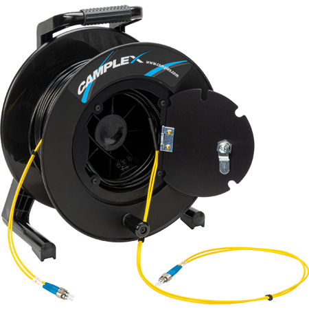 Camplex 2-Channel ST Single Mode Fiber Optic Tactical Snake on Reel 1750 Ft