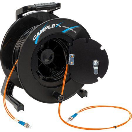Camplex 2-Channel ST Multimode OM1 Fiber Optic Tactical Reel - 1250 Foot