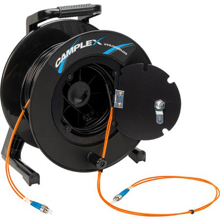 Camplex 2-Channel ST Multimode OM1 Fiber Optic Tactical Reel - 1750 Foot