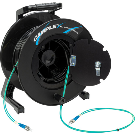 Camplex 2-Channel ST Multi Mode OM3 Fiber Optic Tactical Reel - 1250 Foot