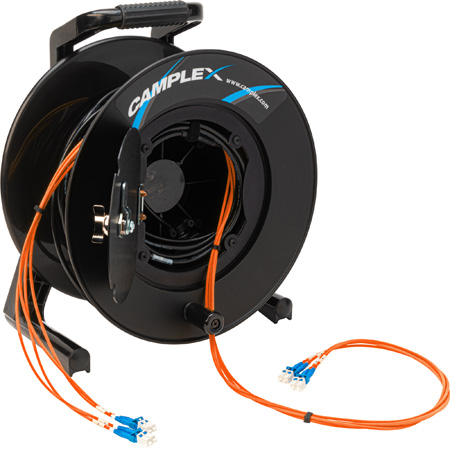 Camplex 4-Channel LC Multimode OM1 Fiber Optic Tactical Reel - 750 Foot