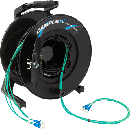Camplex 4-Channel LC Multi Mode OM3 Fiber Optic Tactical Reel - 500 Foot