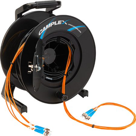 Camplex 4-Channel ST Multimode OM1 Fiber Optic Tactical Reel - 1250 Foot